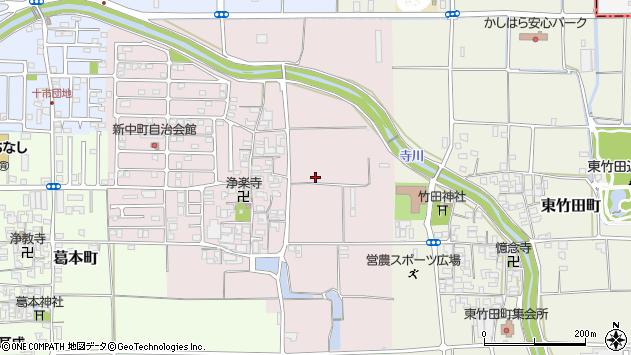〒634-0009 奈良県橿原市中町の地図