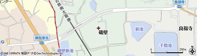 奈良県香芝市磯壁周辺の地図