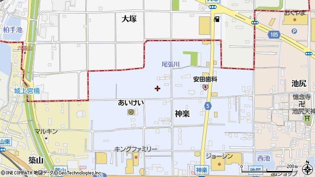 〒635-0026 奈良県大和高田市神楽(番地)の地図