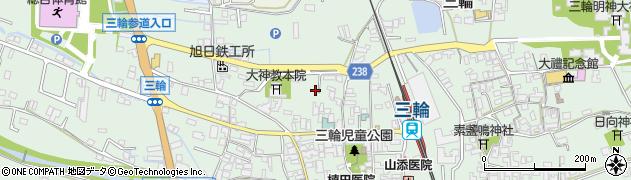 奈良県桜井市三輪周辺の地図