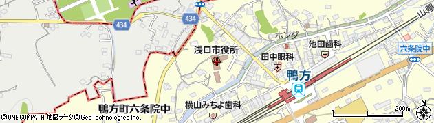 岡山県浅口市周辺の地図