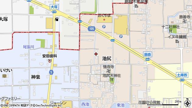 〒635-0021 奈良県大和高田市池尻の地図