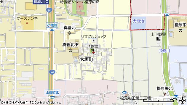 〒634-0841 奈良県橿原市大垣町の地図