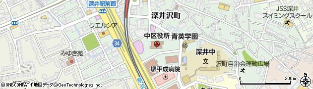 大阪府堺市中区周辺の地図