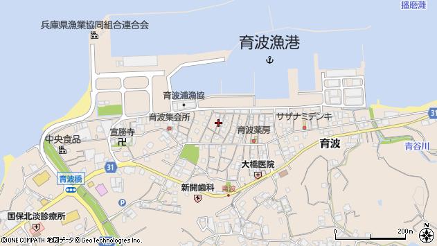 〒656-1602 兵庫県淡路市育波の地図
