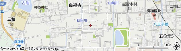 奈良県香芝市良福寺周辺の地図