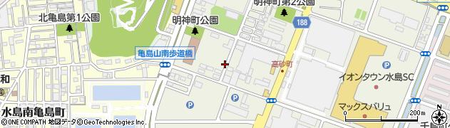 岡山県倉敷市水島明神町周辺の地図