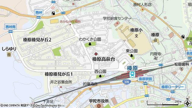 〒633-0254 奈良県宇陀市榛原高萩台の地図