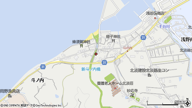 〒656-1743 兵庫県淡路市斗ノ内の地図