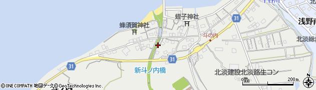 兵庫県淡路市斗ノ内周辺の地図