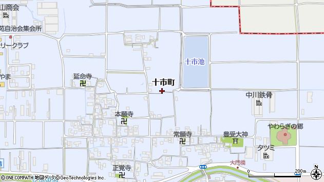 〒634-0008 奈良県橿原市十市町の地図