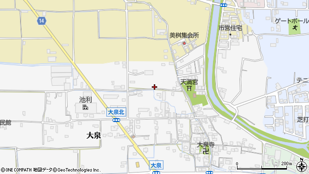 〒633-0076 奈良県桜井市大泉の地図