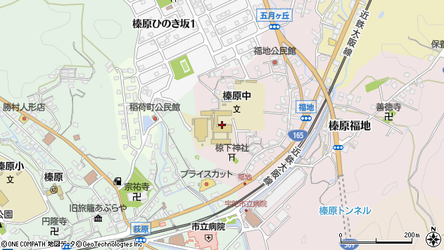 〒633-0204 奈良県宇陀市榛原福地の地図
