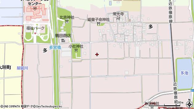 〒636-0345 奈良県磯城郡田原本町多の地図