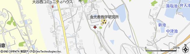 岡山県浅口市金光町大谷周辺の地図
