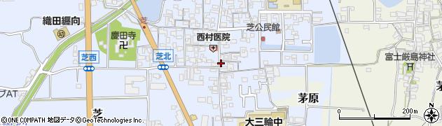奈良県桜井市芝周辺の地図
