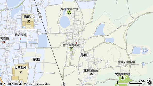〒633-0073 奈良県桜井市茅原の地図