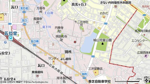 〒639-0224 奈良県香芝市別所の地図