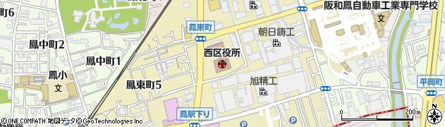 大阪府堺市西区周辺の地図