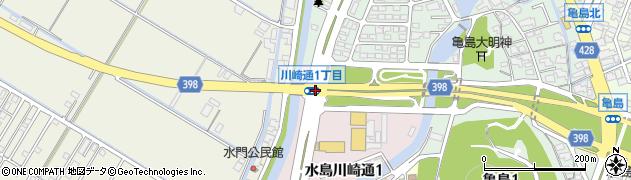 川崎通1周辺の地図