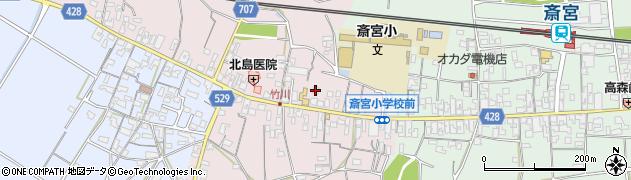 三重県多気郡明和町竹川周辺の地図