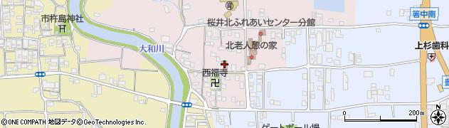 奈良県桜井市豊田周辺の地図
