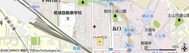 奈良県香芝市瓦口周辺の地図