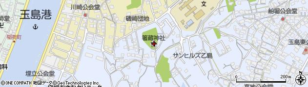 箸蔵神社周辺の地図