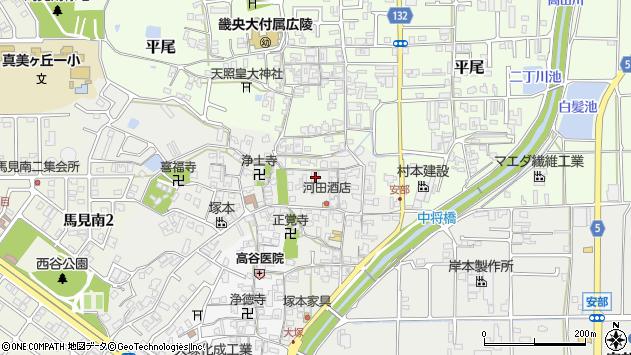 〒635-0825 奈良県北葛城郡広陵町安部の地図