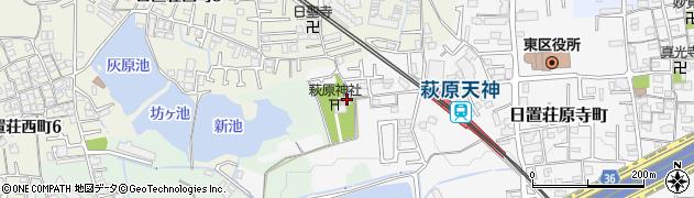 萩原神社周辺の地図