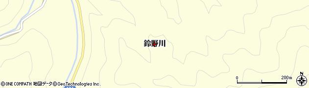 山口県萩市鈴野川周辺の地図