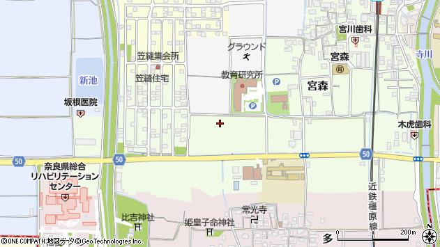 〒636-0344 奈良県磯城郡田原本町宮森の地図