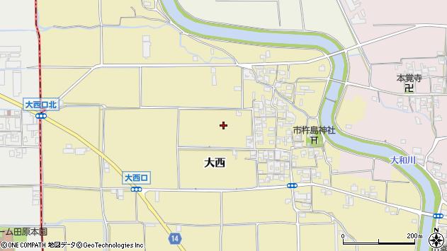 〒633-0077 奈良県桜井市大西の地図