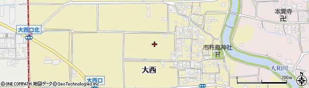 奈良県桜井市大西周辺の地図