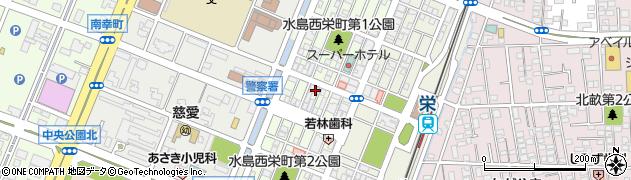 岡山県倉敷市水島西栄町周辺の地図