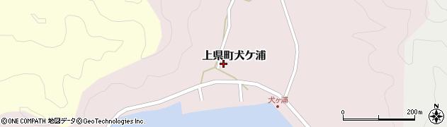 長崎県対馬市上県町犬ケ浦周辺の地図