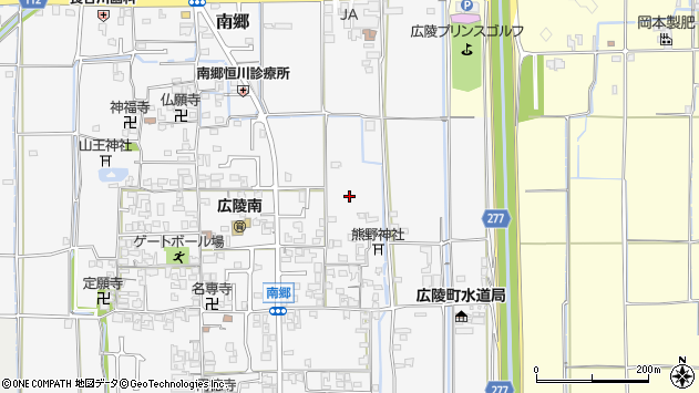 〒635-0814 奈良県北葛城郡広陵町南郷の地図