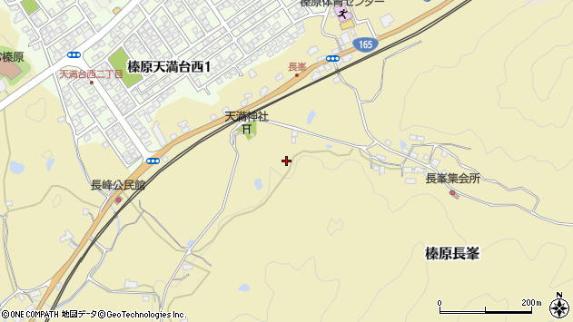 〒633-0203 奈良県宇陀市榛原長峯の地図