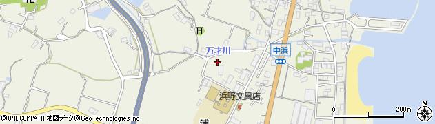 兵庫県淡路市浦平松周辺の地図
