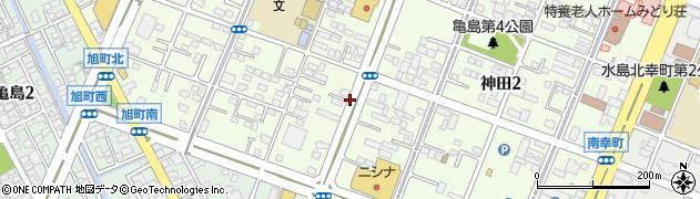 岡山県倉敷市神田周辺の地図