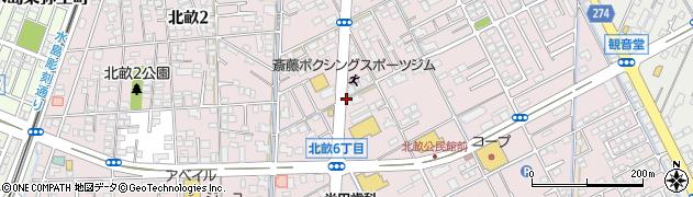 岡山県倉敷市北畝周辺の地図
