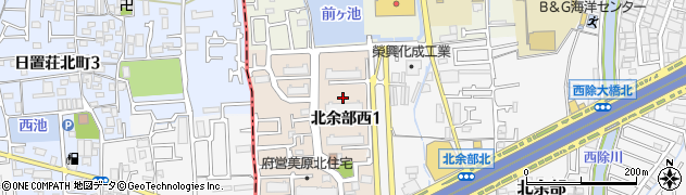 美原北住宅周辺の地図