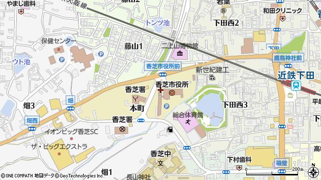 〒639-0244 奈良県香芝市本町の地図