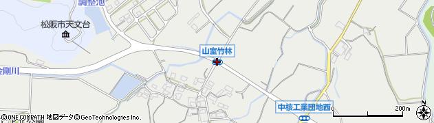 山室竹林周辺の地図