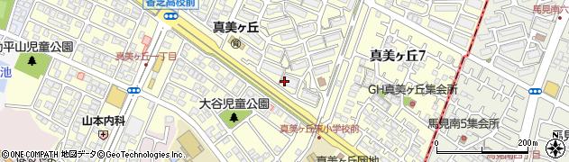 奈良県香芝市真美ヶ丘周辺の地図
