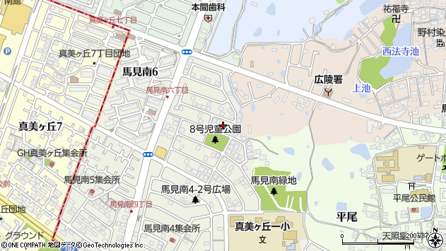 〒635-0833 奈良県北葛城郡広陵町馬見南の地図