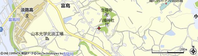 兵庫県淡路市石田周辺の地図
