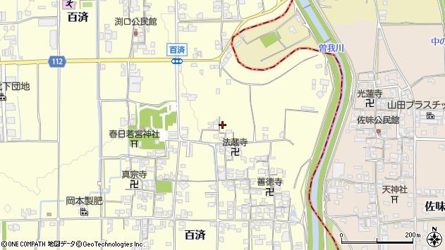 〒635-0813 奈良県北葛城郡広陵町百済の地図