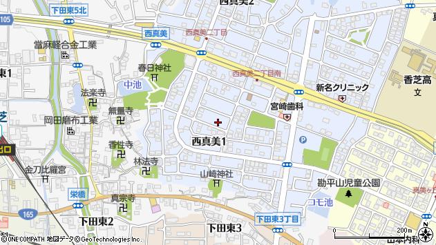 〒639-0222 奈良県香芝市西真美の地図