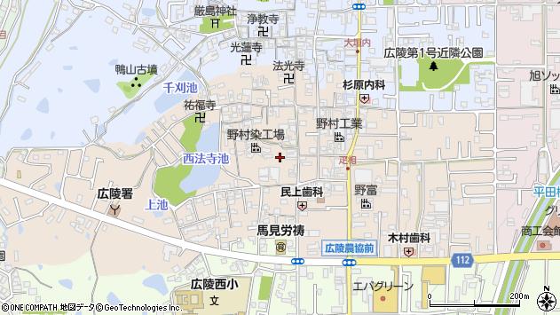 〒635-0824 奈良県北葛城郡広陵町疋相の地図